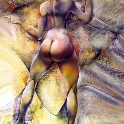 Picturi si tablouri nud pe panza - 'Braț narativ III' © by Radu Maier