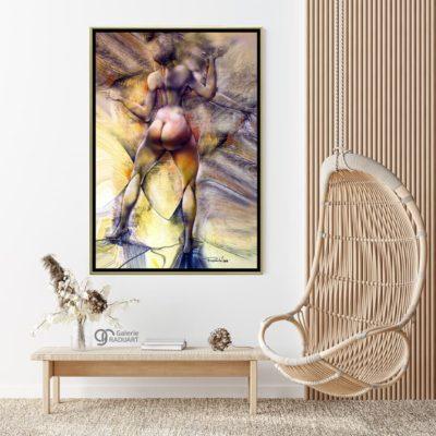 Tablou modern înrămat 'Braț narativ'. Pictura nud de vânzare de Radu Maier