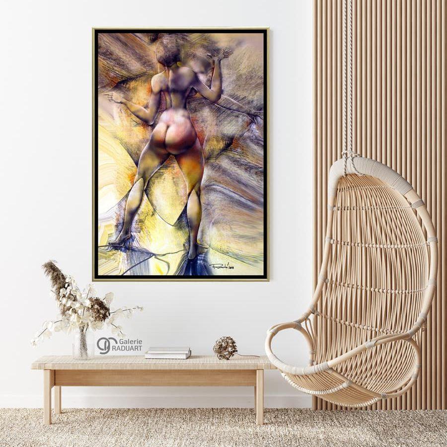 Moderne Aktmalerei auf Leinwand 'Spiegelung IX' ideal für jedes Haus