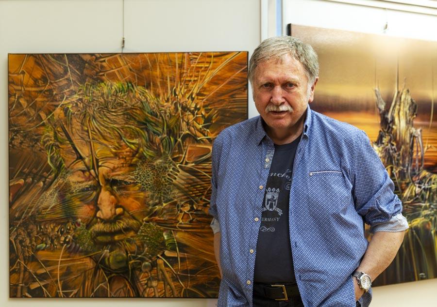 Der Kuenstler und sein Selbstportrait - | Galerie Raduart