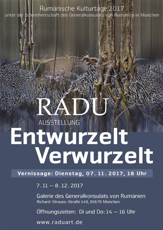 """Einzelausstellung """"Radu. Entwurzelt-Verwurzelt in München"""