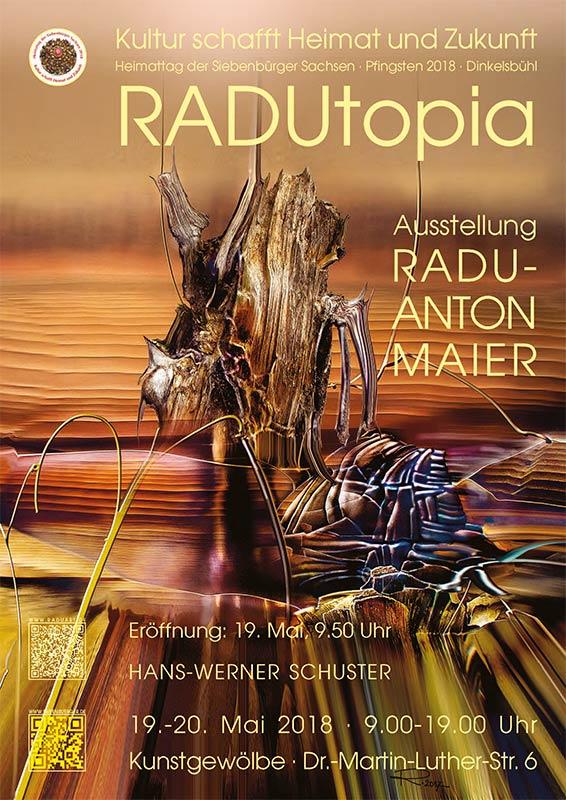 """Expoziția personală """"Radutopia. Radu Maier"""" în Dinkelsbühl"""