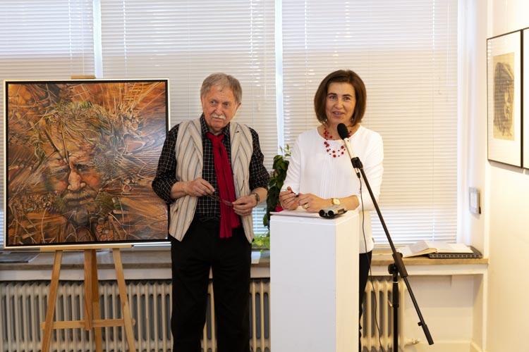 Eröffnung der Ausstellung mit Gemälden und Portraits