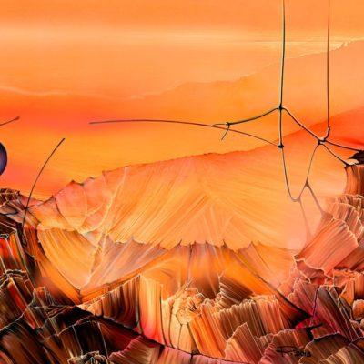 "Pictura peisaj montan pe pânză. ""Hoggar"" © by Radu Maier"