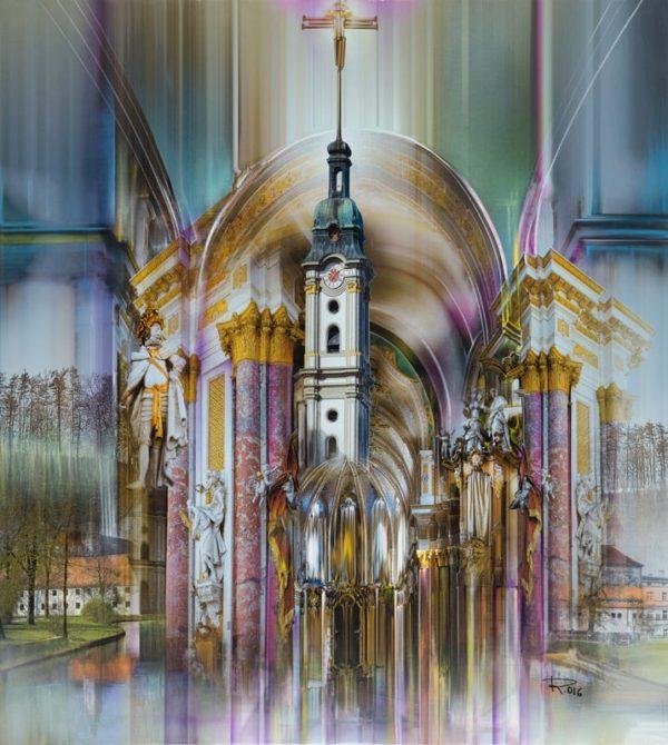 "Pictura pe pânză ""Fürstenfeld II"" by Radu Maier. Radu Maier | pictor contemporan"