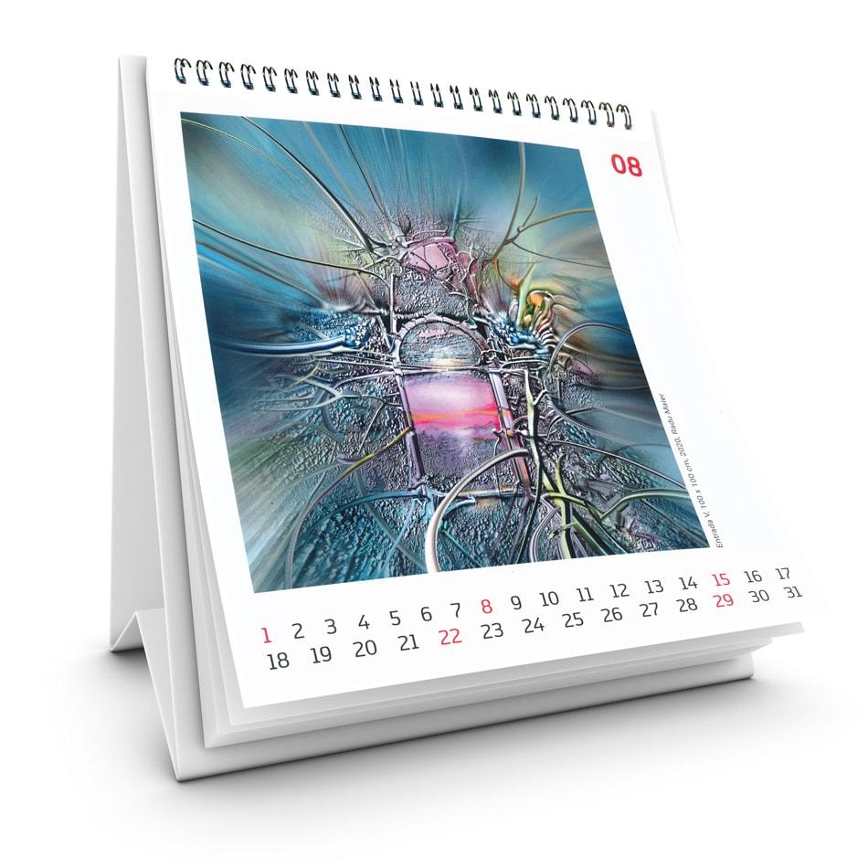 Kunstkalender 2021 August Radu Maier -   Galerie Raduart