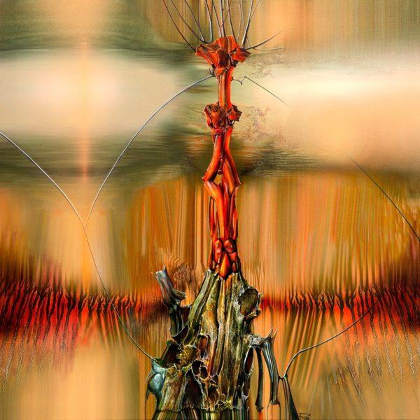 """Peisaj abstract cu acrilic pe pânză. """"Înălțare metafizică"""" © by Radu Maier."""