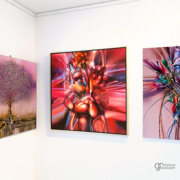 Moderne Aktmalerei Allegorie 4 Einblick in der Ausstellung - | Galerie Raduart