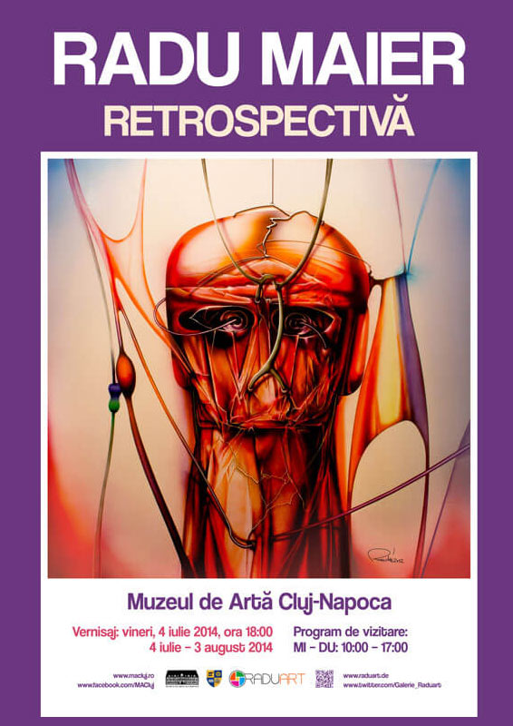 Plakat Radu Maier Retrospektive Muzeul de Arta Cluj Napoca 1 - | Galerie Raduart