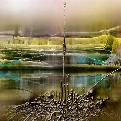 """Pictură modernă, acrilic pe pânză. """"Wadi Rum V"""" © by Radu Maier."""