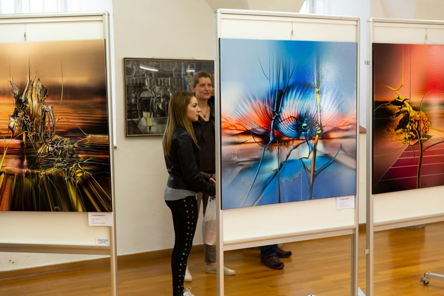 der erste kontakt mit radus gemaelde - | Galerie Raduart