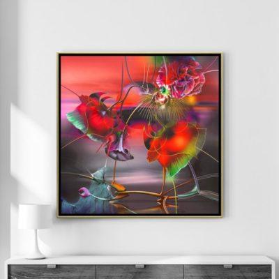 kunst fuers wohnzimmer die bluehende sonne radu maier - | Galerie Raduart