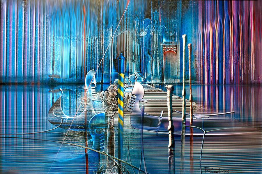 Gemälde Venedig auf Leinwand