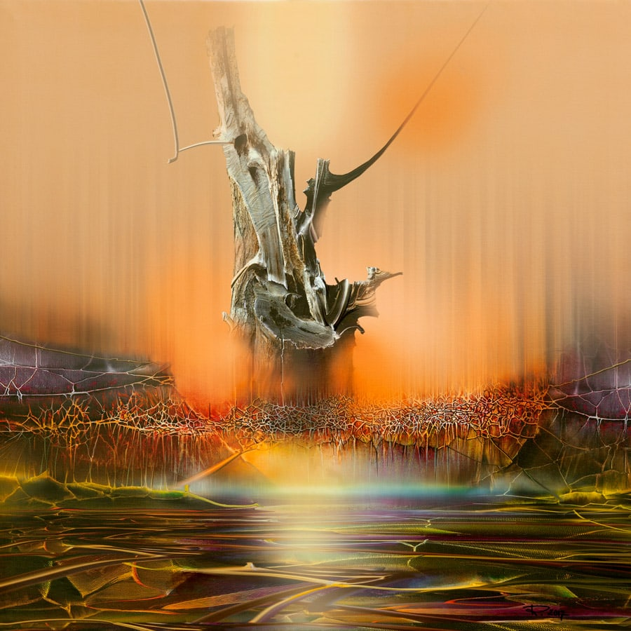 leinwandbild verwurzelung 100x100 Radu Maier - | Galerie Raduart