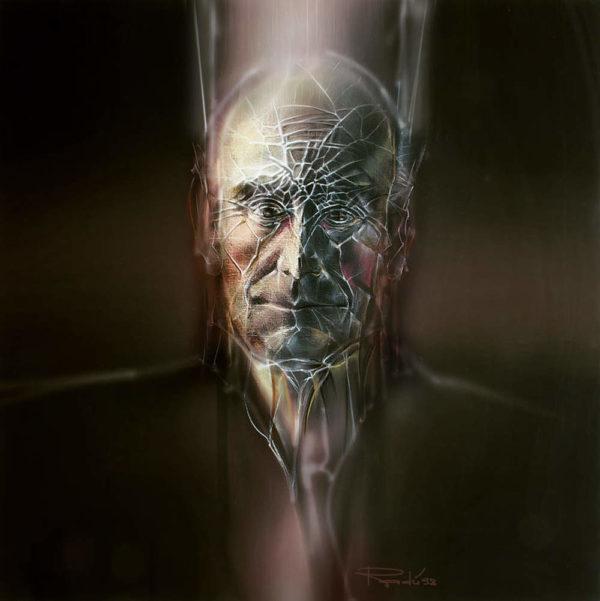 """Portrait auf Leinwand """"Lucian Blaga IV"""" - online kaufen"""