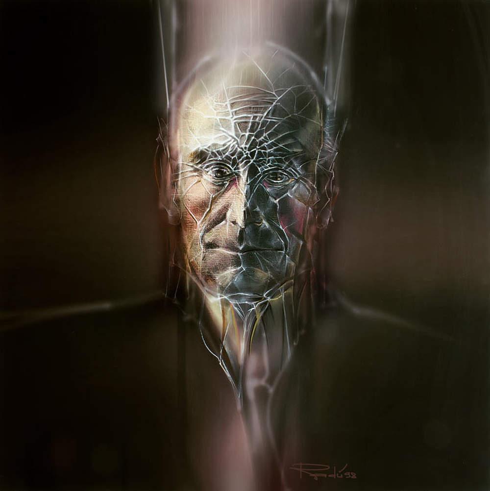 Portrait auf Leinwand