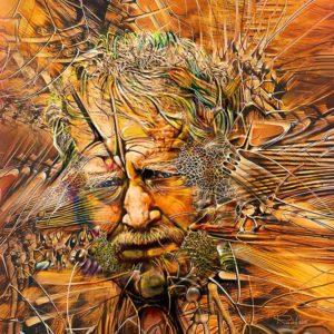 portrait auf leinwand selbstbildnis radu maier - | Galerie Raduart